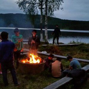 Härligt vid elden